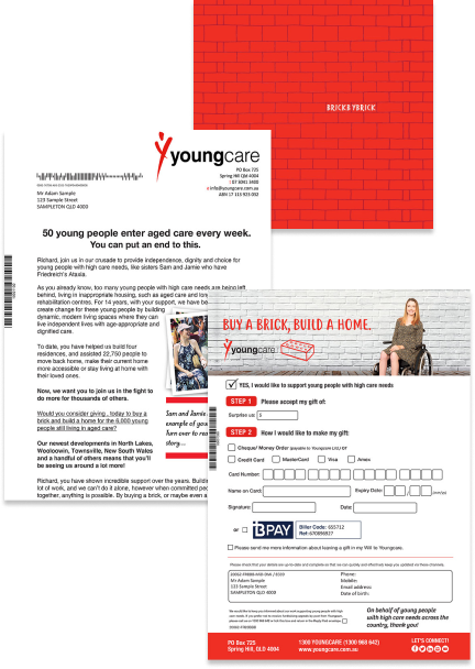 youngcare brick by brick direct mail peice