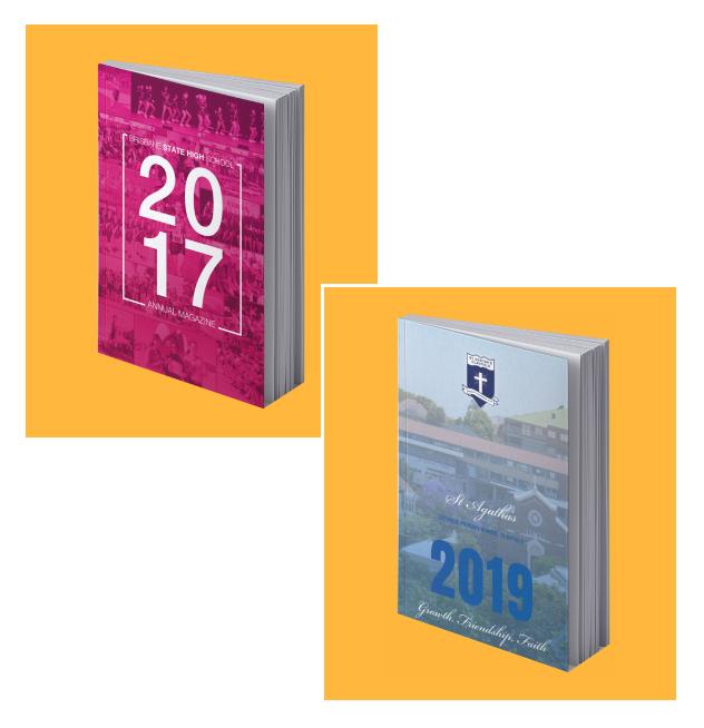 printed school yearbooks