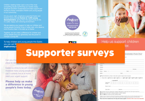supporter survey direct mail piece